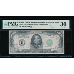 1934A $1000 New York Federal Reserve Note PMG 30