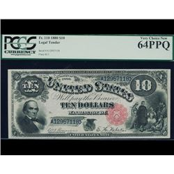 1880 $10 Legal Tender Note PCGS 64PPQ