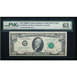 1969B $10 New York Federal Reserve STAR Note PMG 63EPQ
