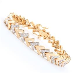 Plated 18KT Yellow Gold 0.25ctw Diamond Bracelet