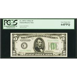 1934A $5 Philadelphia Federal Reserve Note PCGS 64PPQ