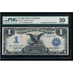 1899 $1 Black Eagle Silver Certificate STAR Note PMG 30