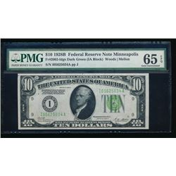 1928B $10 Minneapolis Federal Reserve Note PMG 65EPQ