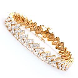 Plated 18KT Yellow Gold 0.80ctw Diamond Bracelet