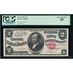 1891 $2 Silver Certificate PCGS 40