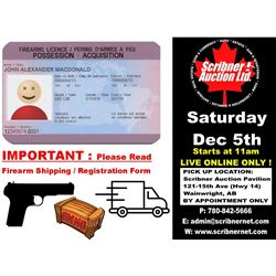 Firearms & Ammunition Bidders Requirement Terms/Conditions