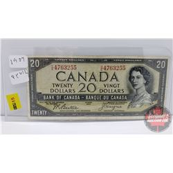Canada $20 Bill 1954 DF : Beattie/Coyne CE4763255