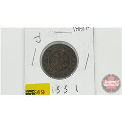 Canada Large Cent 1881H