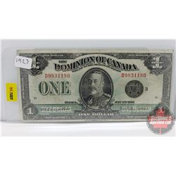 Dominion of Canada $1 Bill 1923 S/N#D9831180