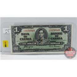 Canada $1 Bill 1937 Coyne/Towers S/N#KN3150948