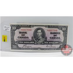 Canada $10 Bill 1937 Coyne/Towers S/N#LT4417584
