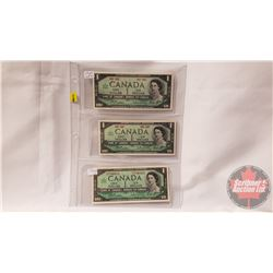 Canada $1 Bills 1967 (3) (See Pics for Signatures/Serial Numbers)