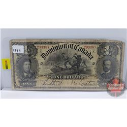 Dominion of Canada $1 Bill 1898 (S/N#293367)