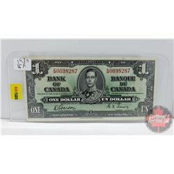 Canada $1 Bill 1937 Gordon/Towers S/N#EM0038287