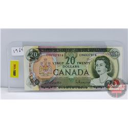 Canada $20 Bill 1969 Beattie/Rasminsky S/N#ER4327816