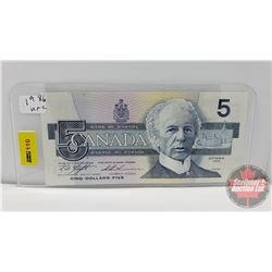Canada $5 Bill 1986 Knight/Thiessen S/N#ANJ2051435