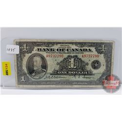 Bank of Canada $1 Bill 1935 Osborne/Towers S/N#A9737790