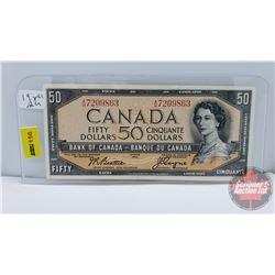 Canada $50 Bill 1954 Beattie/Coyne S/N#AH7209863