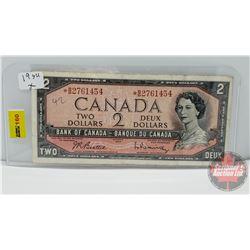 "Canada $2 Bill ""Replacement"" 1954 : Beattie/Rasminsky S/N# *BB2761454"