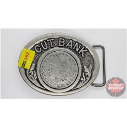"Cut Bank ""1896 Morgan Dollar"" Belt Buckle"