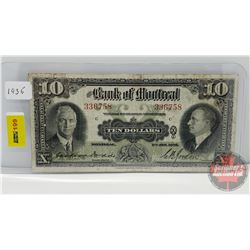 Bank of Montreal $10 Bill 1935 S/N#336758