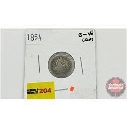 US Half Dime 1854