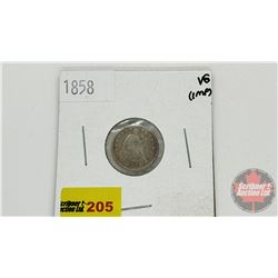 US Half Dime 1858