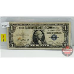 "US $1 Bill ""Blue Seal"" 1935 S/N#K99468428E"
