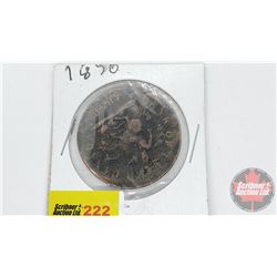 Bank of Upper Canada 1850 Bank Token One Penny