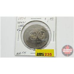 Canada Silver Dollar 1974 Double Yoke V2