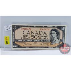 Canada $50 Bill 1954 Beattie/Rasminsky S/N#BH2076078