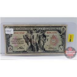 The Canadian Bank of Commerce $5 Bill 1935 S/N#A042357