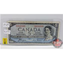 Canada $5 Bill 1954 DF Coyne/Towers S/N#CC2112160