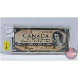 Canada $50 Bill 1954 DF : Coyne/Towers S/N#AH0310404