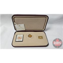 """2001 RCM Three Cent Coin & Stamp Set """"150th Anniversary of the First Postage Stamp in Canada"""" (No CO"""