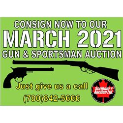 Thanks for joining us, next Scribner Gun & Sportsman Auction : March 2021 - Consign Now!