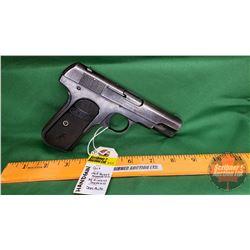 HANDGUN (PROHIB): Colt 1903 Pocket Hammerless 32 Rimless Smokeless Semi-Auto S/N#168337