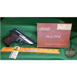HANDGUN (PROHIB): Walther PPK 32 (7.65mm) Semi-Auto w/Box S/N#234345