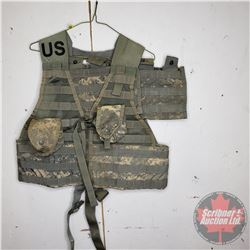 US Military Vest w/Mag Pouches (2) and Grenade Pouches (2)