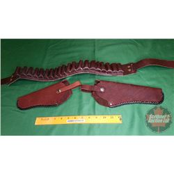 Ammo Belt & Holster (Leather)