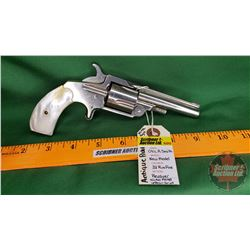 Antique Pistol: Otis A Smith New Model 32 Rim Fire Revolver - Nickel Plated Finish - Pearl Grips S/N