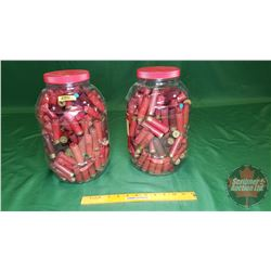 Spent 12ga Shot Gun Shells (2 Jars)