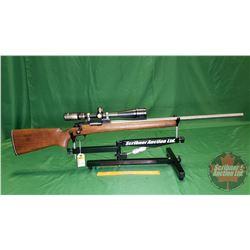 Rifle: Custom - Remington 700 Rebarrelled to .22 Cheetach Bolt Action (S/N#B6289853) w/Tasco Scope