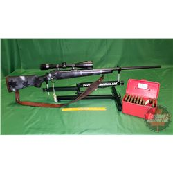 Rifle: Ruger M-77 Bolt Action 338 Win Mag S/N#770-30065 (c/w: 40 Rnds Ammo, Ammo Case, Gun Lock, Sco