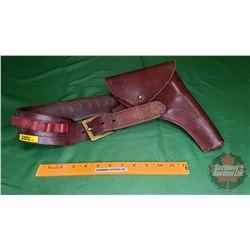 "Leather Holster w/Ammo Belt (36"" Waist)"