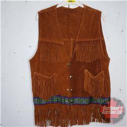 Leather Tasseled Vest (Medium?)