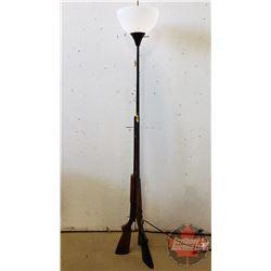 "Custom Made Shotgun Lamp (Made with 3 Shotguns) 71"" High"