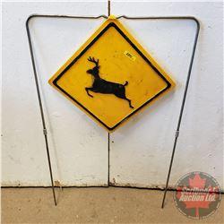 """Deer Crossing Sign (13"""" x 13"""")"""