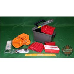Combo: Plastic Ammo Box, Rubber Targets, Cartridge Holders (Plastic) Gun Locks