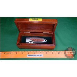 Ducks Unlimited Canada Pocket Knife w/Wood Case